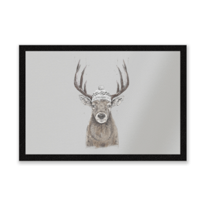 Winter Deer Entrance Mat