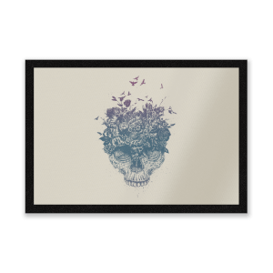 Skulls And Flowers Entrance Mat
