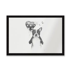 Bulldog And Balloon Entrance Mat