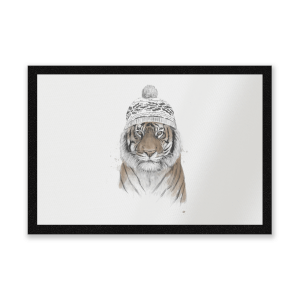 Winter Tiger Entrance Mat