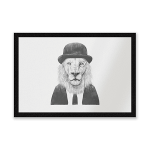 Monocle Lion Entrance Mat