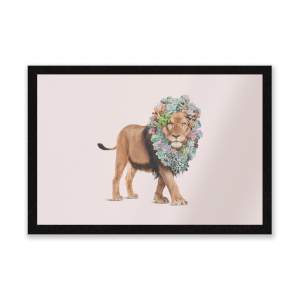 Floral Lion Entrance Mat