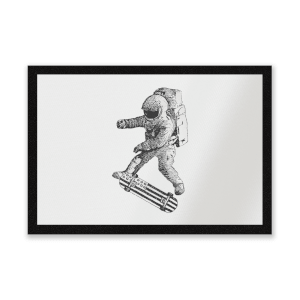 Kickflip In Space Entrance Mat