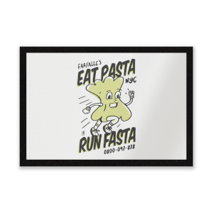 EAT PASTA RUN FASTA Entrance Mat