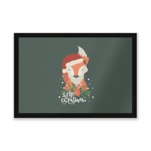 Christmas Fox Hello Christmas Entrance Mat