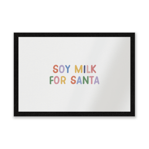 Soy Milk For Santa Entrance Mat