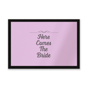 Here Comes The Bride Entrance Mat