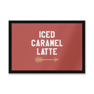 Iced Caramel Latte Entrance Mat