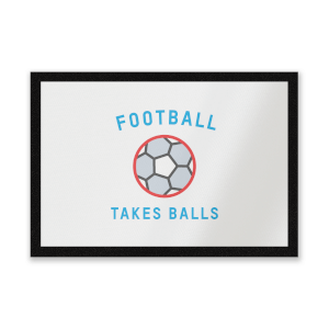 Football Takes Balls Entrance Mat