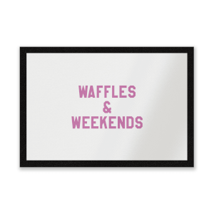 Waffles And Weekends Entrance Mat