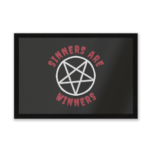 Sinners Are Winners Entrance Mat