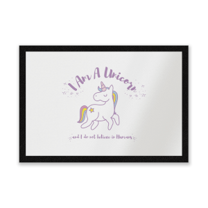 I Am A Unicorn And I Dont Believe In Humans Entrance Mat