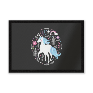 Blue Unicorn Entrance Mat