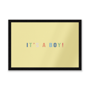 It's A Boy Entrance Mat