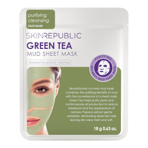 Skin Republic Green Tea Mud Face Sheet Mask 18g