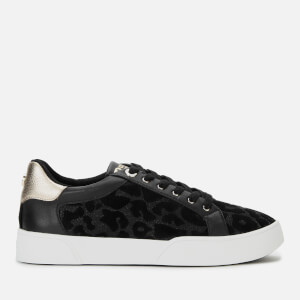 Dune Women's Ellenie S Leopard Print Low Top Trainers - Black