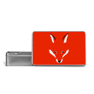 Foxy Shape Metal Storage Tin