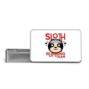 Sloth Running Team Metal Storage Tin