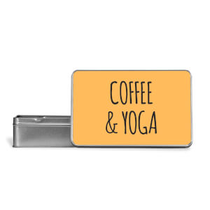 Coffee And Yoga Metal Storage Tin