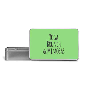 Yoga Brunch And Mimosas Metal Storage Tin