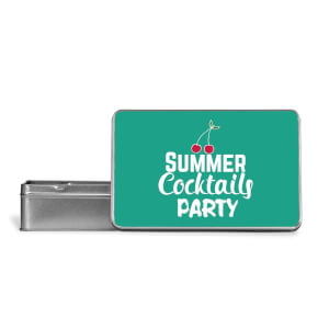Summer Cocktails Party Metal Storage Tin