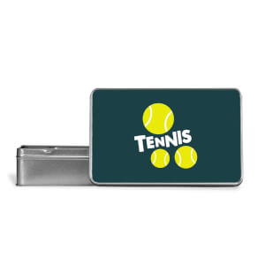 Tennis Balls Metal Storage Tin