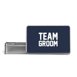 Team Groom Metal Storage Tin