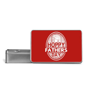 Hoppy Fathers Day Metal Storage Tin