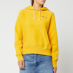 Champion Women's Small Script Hooded Sweatshirt - Golden Rod