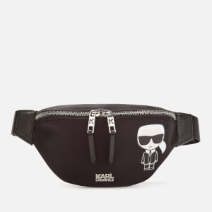 Karl Lagerfeld Women's K/Ikonik Nylon Bum Bag - Black