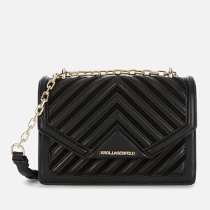 Karl Lagerfeld Women's K/Klassik Quilted Small Shoulder Bag - Black/Gold