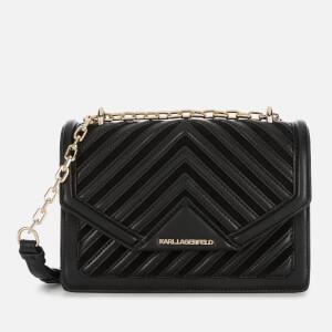 Karl Lagerfeld Women's K/Klassik Quilted Small Shoulder Bag - Black/Gold