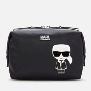 Karl Lagerfeld Women's K/Ikonik Wash Bag - Black
