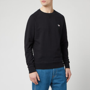 Maison Kitsune Men's Tricolor Fox Patch Sweatshirt - Black