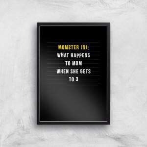 Momster Art Print