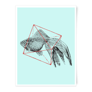 Fish In Geometry Art Print