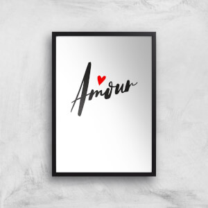 Amour Script Art Print