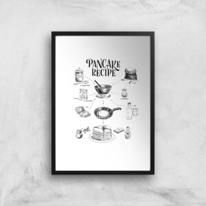 Pancake Recipe Art Print
