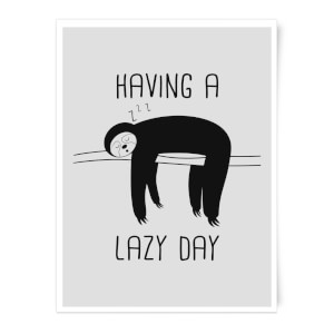 Having A Lazy Day Art Print