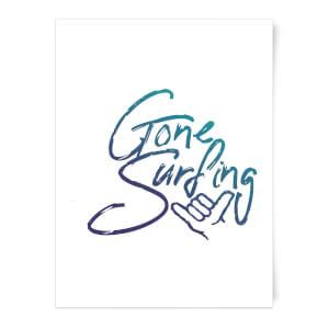 Gone Surfing Art Print