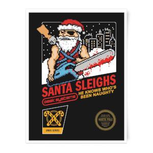 Santa Sleighs Art Print
