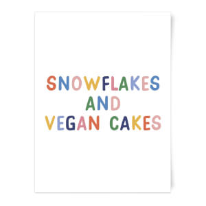 Snowflakes And Vegan Cakes Art Print