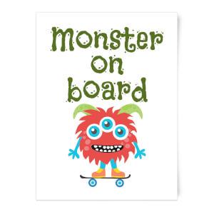 Monster On Board Art Print