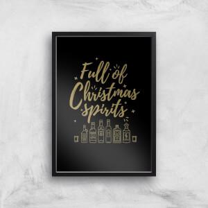 Full Of Christmas Spirits Art Print
