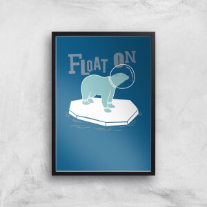 Polar Bear Float On Art Print