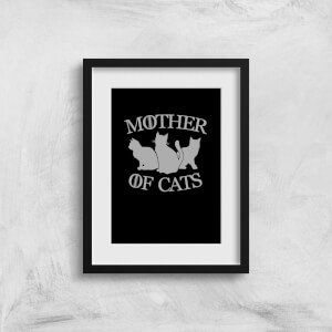 Mother Of Cats Black Tee Art Print