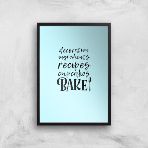 Baking Words Art Print