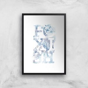 Foxish Art Print