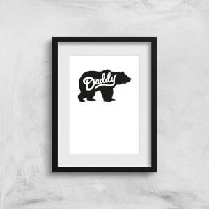 Daddy Bear Art Print