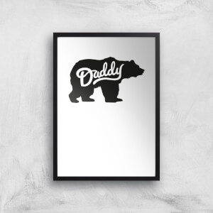 Daddy Bear Art Print